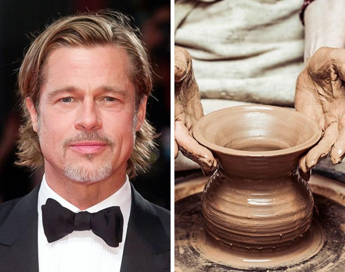 Brad Pitt - đồ gốm:Brad Pitt bắt đầu sở thích điêu khắc và làm gốm như một công việc sau khi ly hôn. Đến bây giờ đó là một cách Brad Pitt thể hiện bản thân.