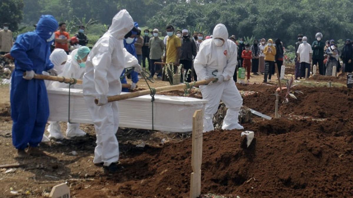 Số ca tử vong tại Indonesia đã vượt mốc 80.000 ca. Ảnh: Antara
