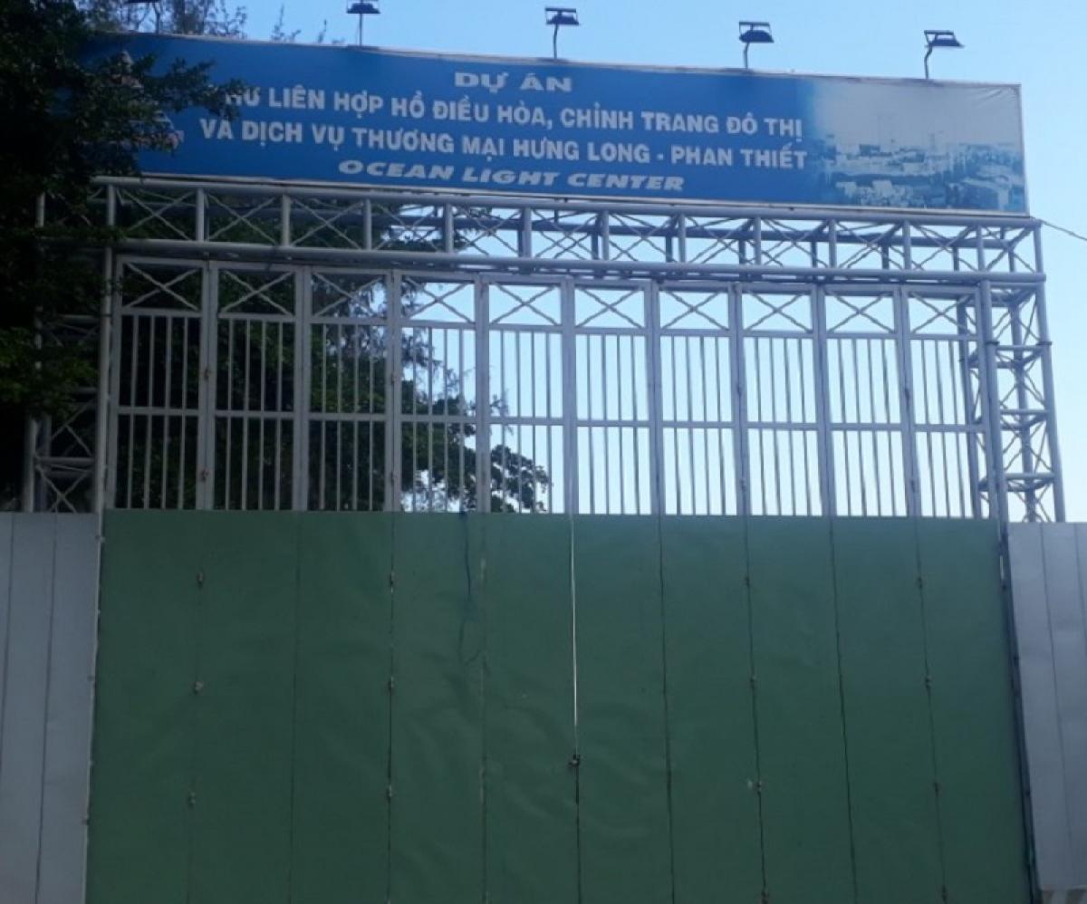 Dự án Khu liên hợp hồ điều hòa, chỉnh trang đô thị và dịch vụ thương mại Hưng Long, phường Hưng Long.