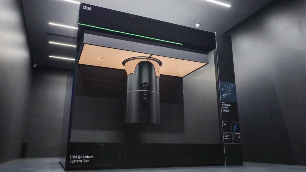 Máy tính lượng tử thương mại đầu tiên của Nhật Bản IBM Quantum System One.