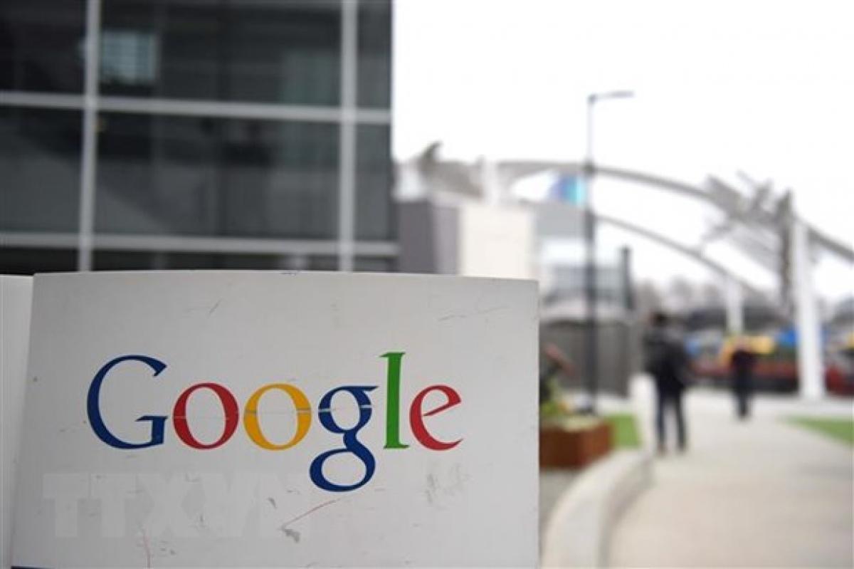 Biểu tượng Google tại California, Mỹ - Ảnh: AFP/TTXVN.
