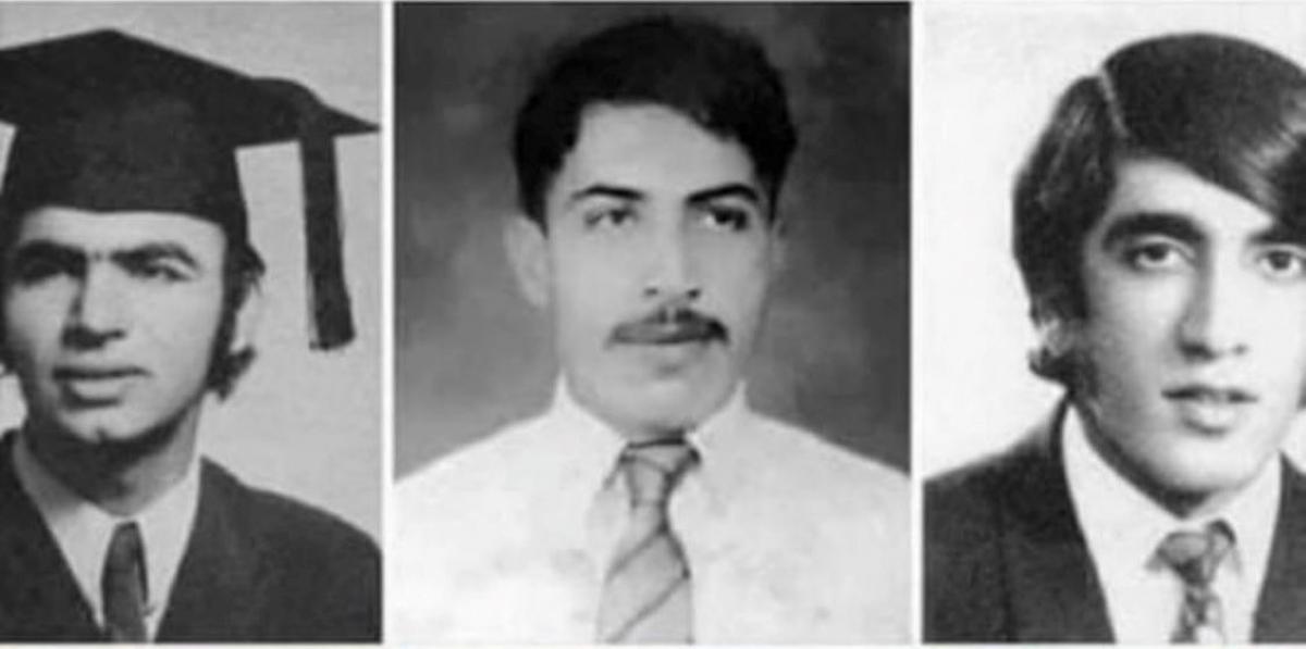 Ba nhân vật quyền thế ở Afghanistan Zalmay Khalilzad (phải), Sher Muhammad Abbas (giữa) và Ashraf Ghani (trái) khi còn trẻ. Nguồn: Oriental Review