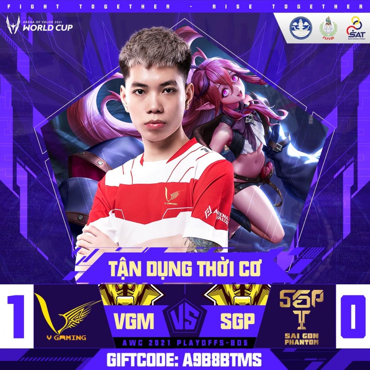V-Gaming bất ngờ dẫn trước Saigon Phantom. (Ảnh: Cao thủ Liên quân).