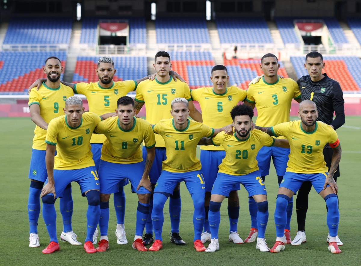 Đội hình ra sân của Brazil. (Ảnh: Reuters).