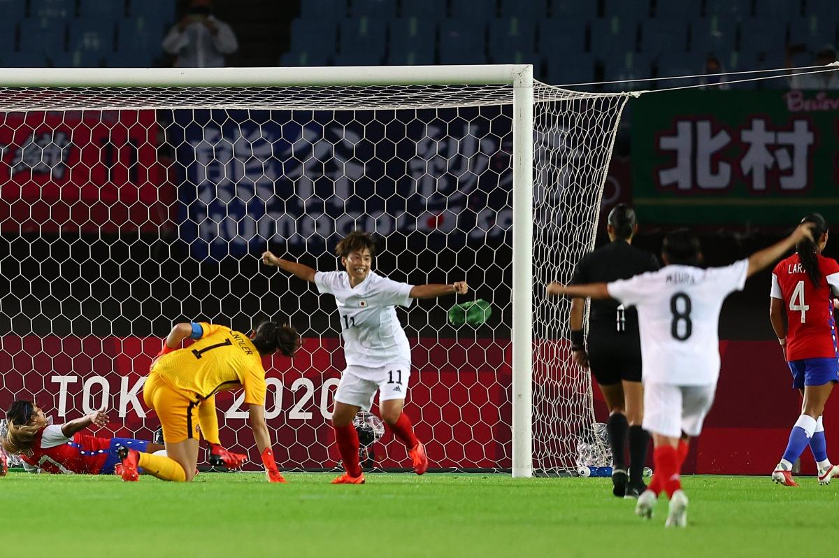 Trận thắng Chile đưa chủ nhà Nhật Bản đi tiếp. (Ảnh: Reuters)