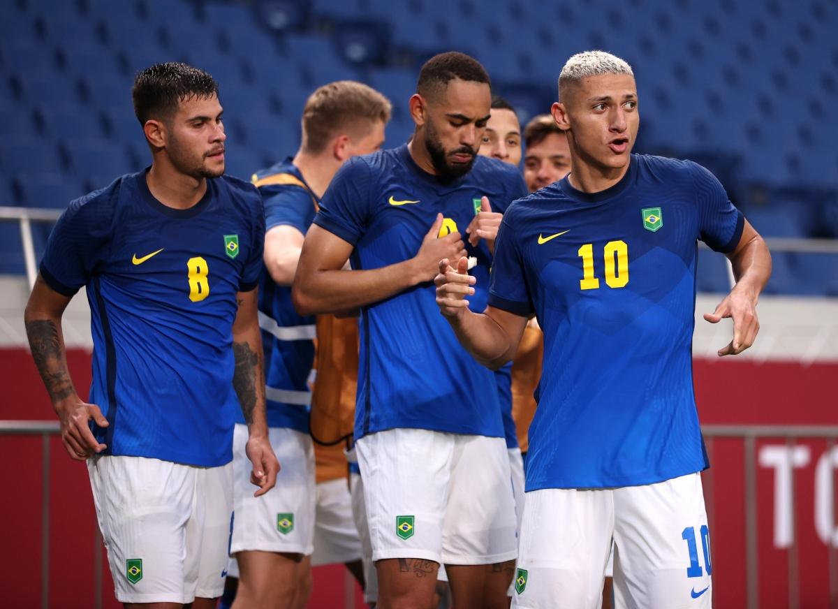 Brazil sẽ đấu Ai Cập ở tứ kết bóng đá nam Olympic Tokyo 2020. (Ảnh: Reuters)