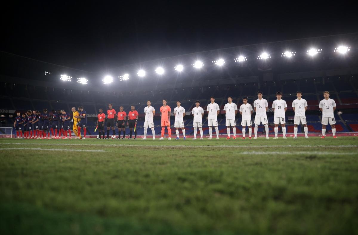 Nhật Bản đang hướng tới thành tích toàn thắng ở vòng bảng môn bóng đá nam Olympic Tokyo 2020. (Ảnh: Reuters).