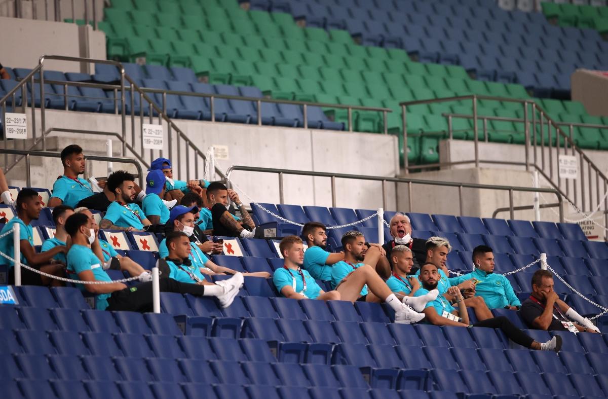 Olympic Brazil tới sân thị sát đối thủ và được chứng kiến màn phối hợp ghi bàn đẳng cấp. (Ảnh: Reuters)