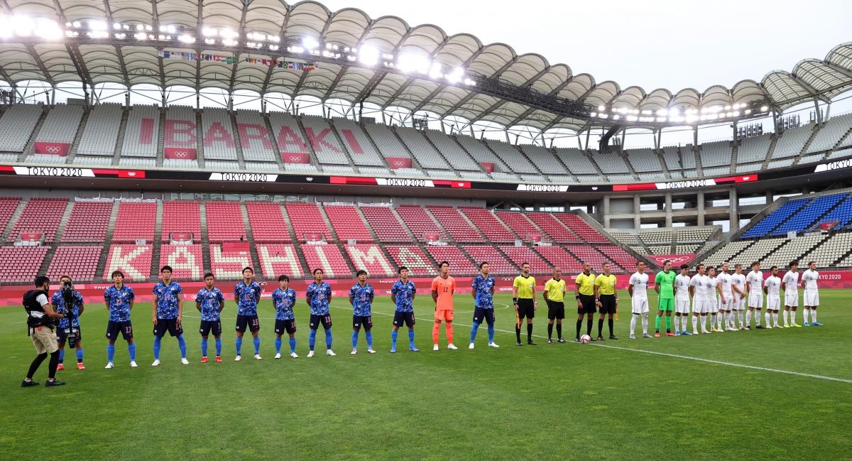 Nhật Bản là đội duy nhất toàn thắng trong số các đội ghi tên vào vòng tứ kết môn bóng đá nam Olympic Tokyo 2020. (Ảnh: Reuters).