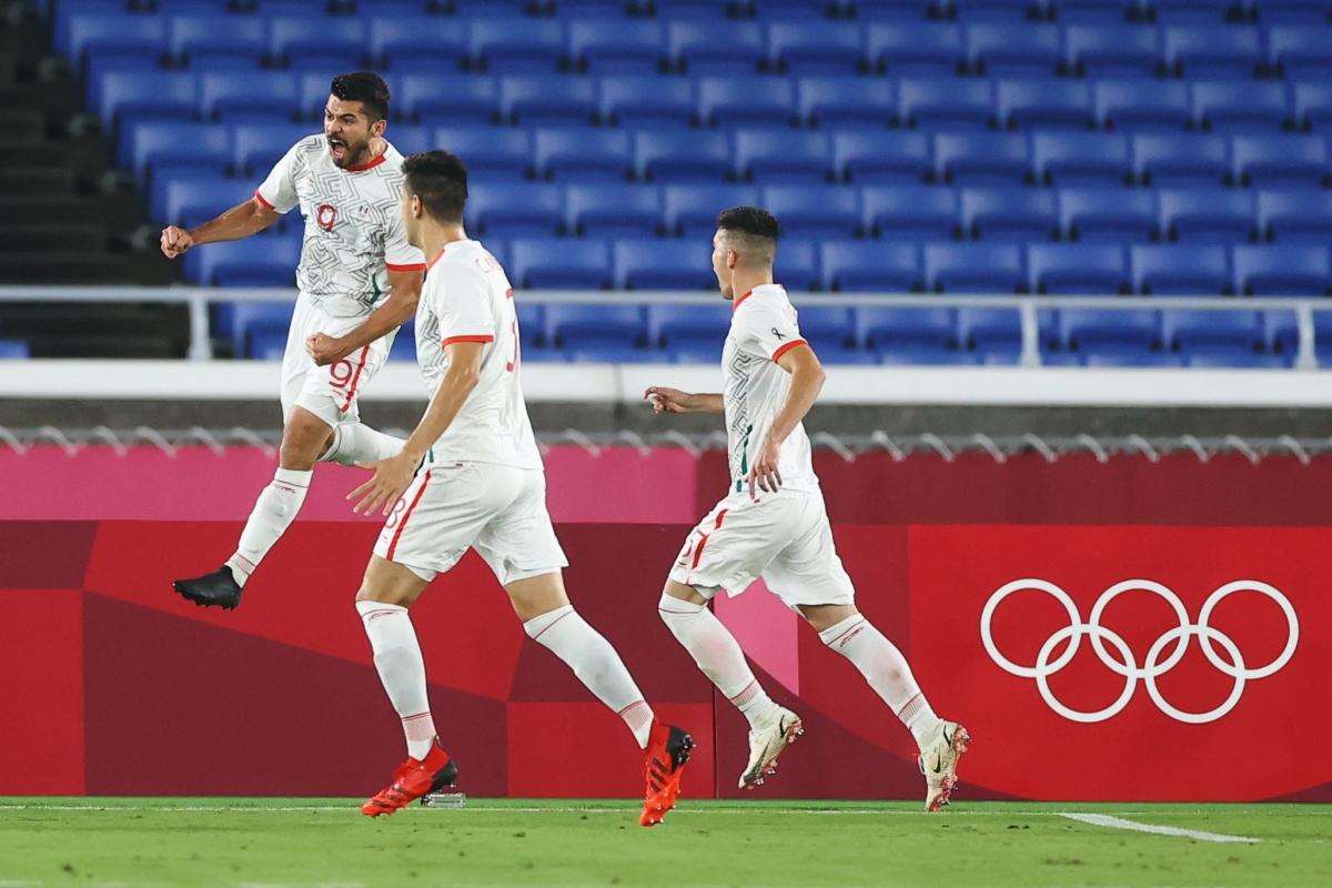 Giành chiến thắng 6-3 trước Hàn Quốc, Mexico vào bán kết môn bóng đá nam Olympic Tokyo gặp Brazil.(Ảnh: Reuters)