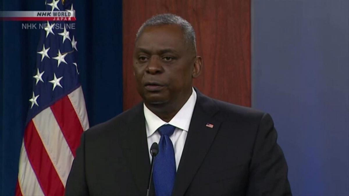 Bộ trưởng Quốc phòng Mỹ Lloyd Austin. Ảnh: NHK