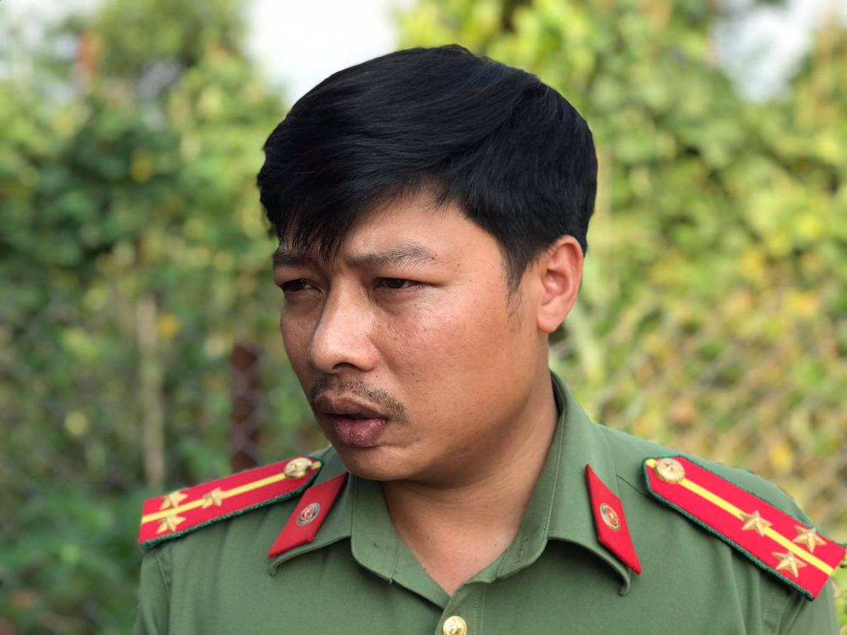 Đại úy Nguyễn Thành Tuấn - Phòng An ninh đối nội (Công an tỉnh Gia Lai).