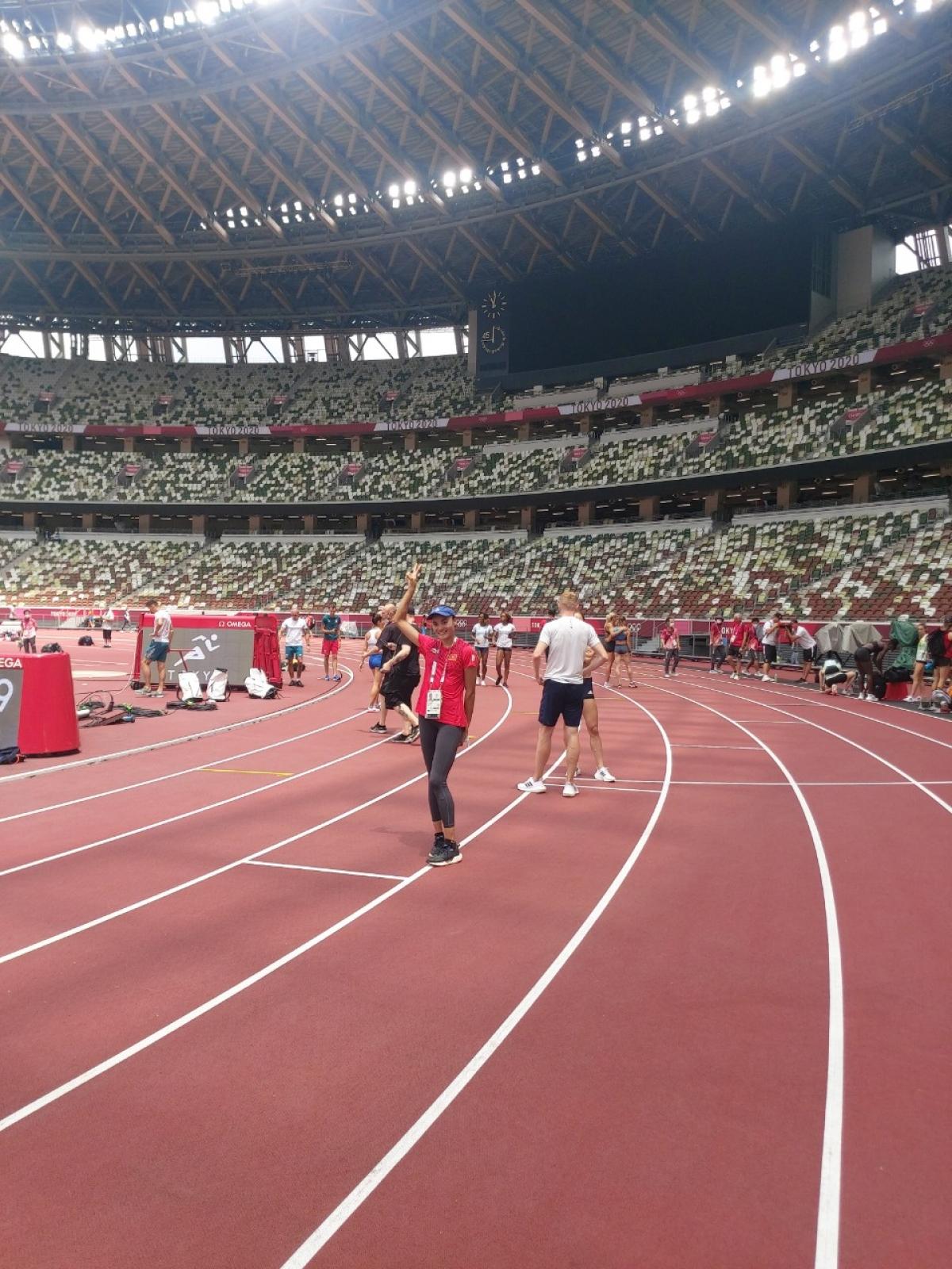 Tại Olympic Tokyo năm nay,Quách Thị Lan là đại diện duy nhất của điền kinh Việt Nam tham dự.