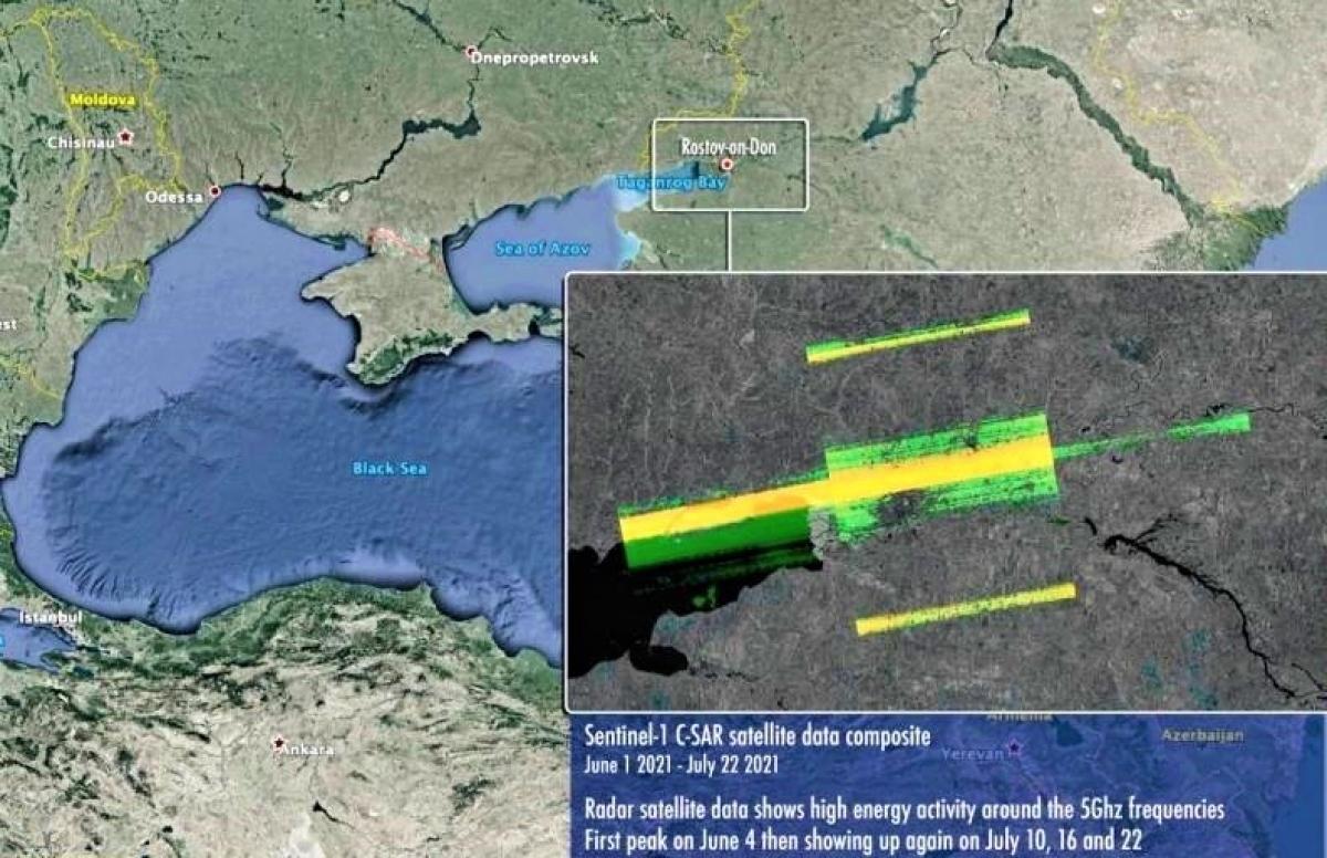 Dữ liệu thu được từ vệ tinhSentinel-1.