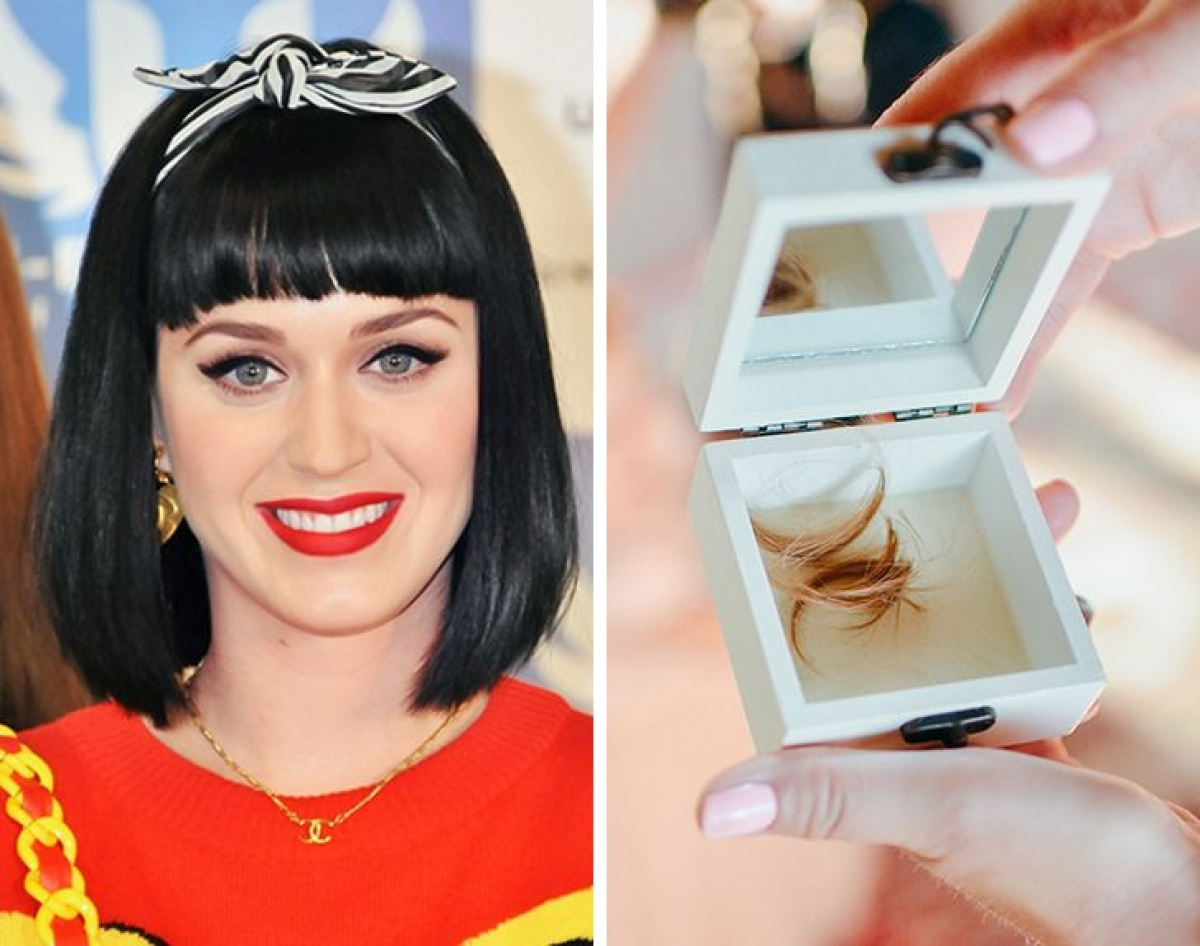 Katy Perry - sưu tập tóc của những người nổi tiếng khác:Katy Perry từng tiết lộ rằng cô luôn giữ tóc của những người nổi tiếng khác, như Taylor Swift và Miley Cyrus... trong ví của mình. Điều đáng ngạc nhiên nhất là cô ấy biết điều đó nghe có vẻ rùng rợn nhưng nó vẫn rất tuyệt vời đối với cô ấy.