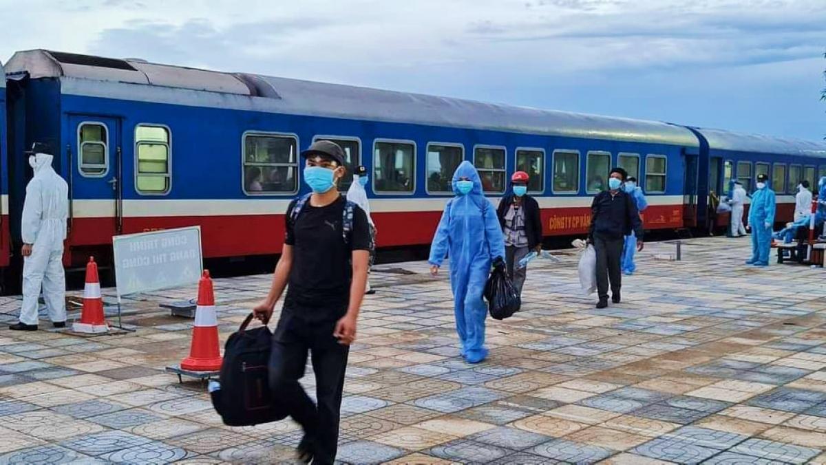 Trong số 814 hành khách về trên chuyến tàu SE14, hiện Hà Tĩnh đã ghi nhận 7 ca mắc Covid-19
