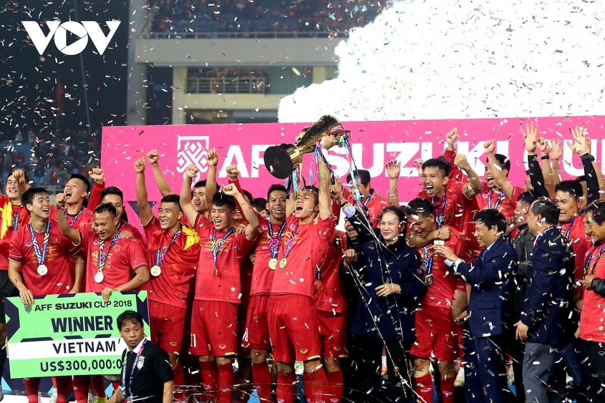 Vietnam are crowned champion of the AFF Suzuki Cup back in 2018after defeating Malaysia in the final.