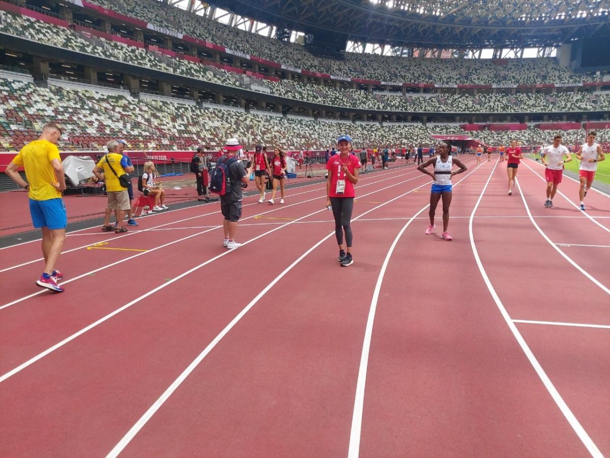 Cùng làm quen sân thi đấu, sân vận động quốc gia Tokyo còn có nhiều VĐV đến từ các quốc gia khác.