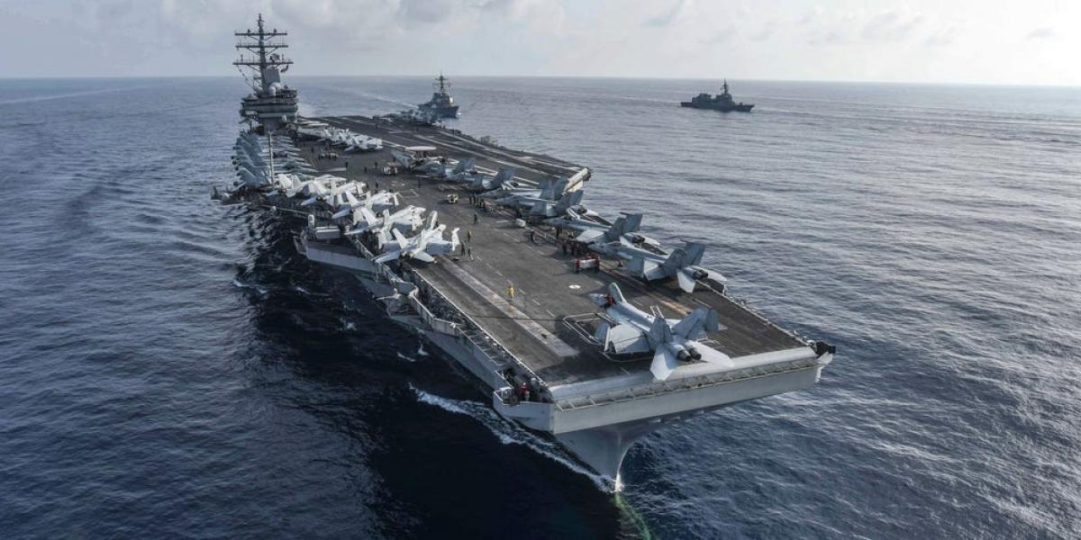 Tàu sân bay USS Ronald Reagan. Ảnh: Hải quân Mỹ