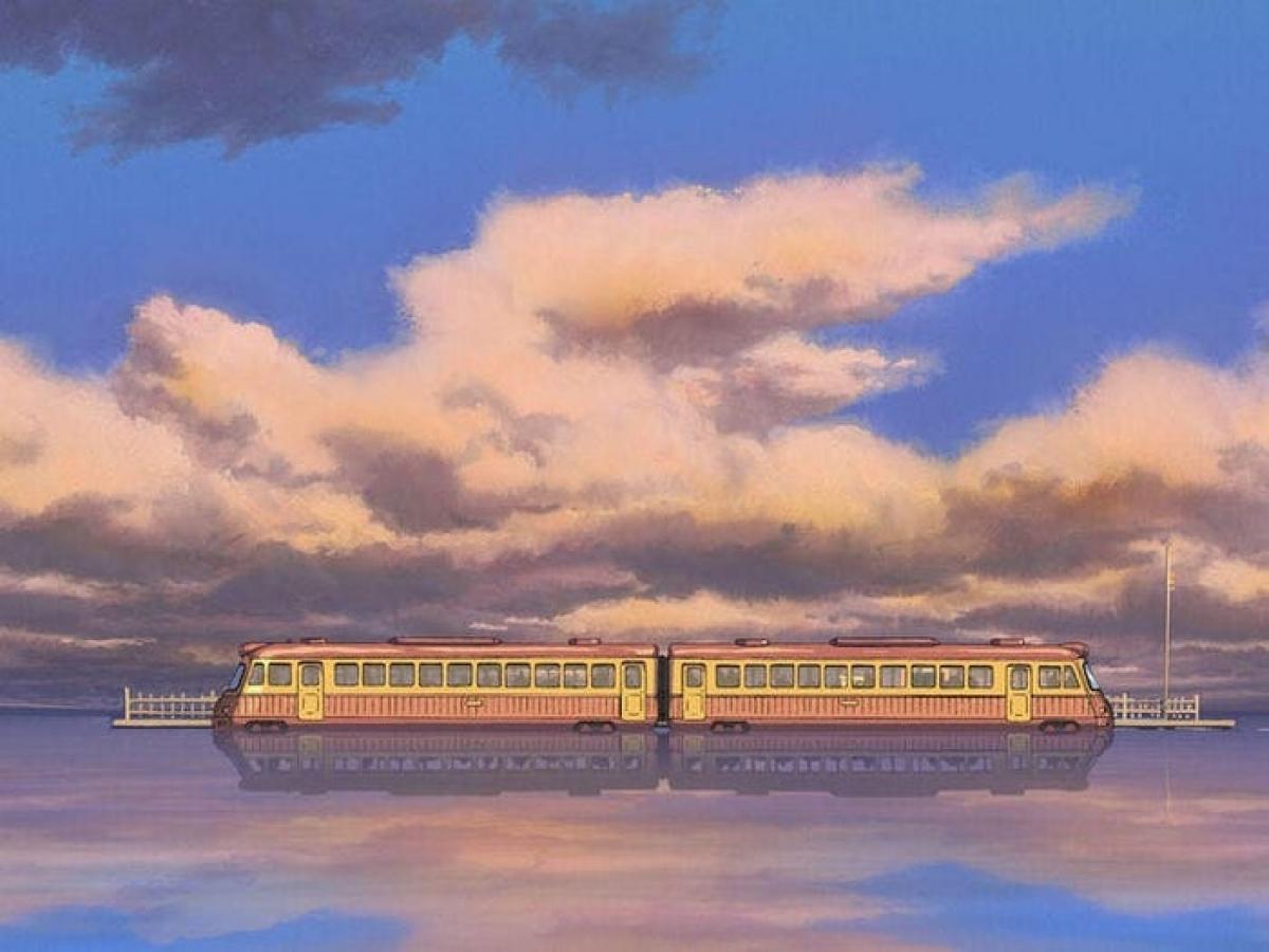 """Một trong những phân cảnh đáng nhớ nhất của """"Spirited Away"""" là """"cảnh xe lửa"""" - nơi không có đoạn hội thoại hay diễn biến cốt truyện nào diễn ra trong suốt hai phút."""