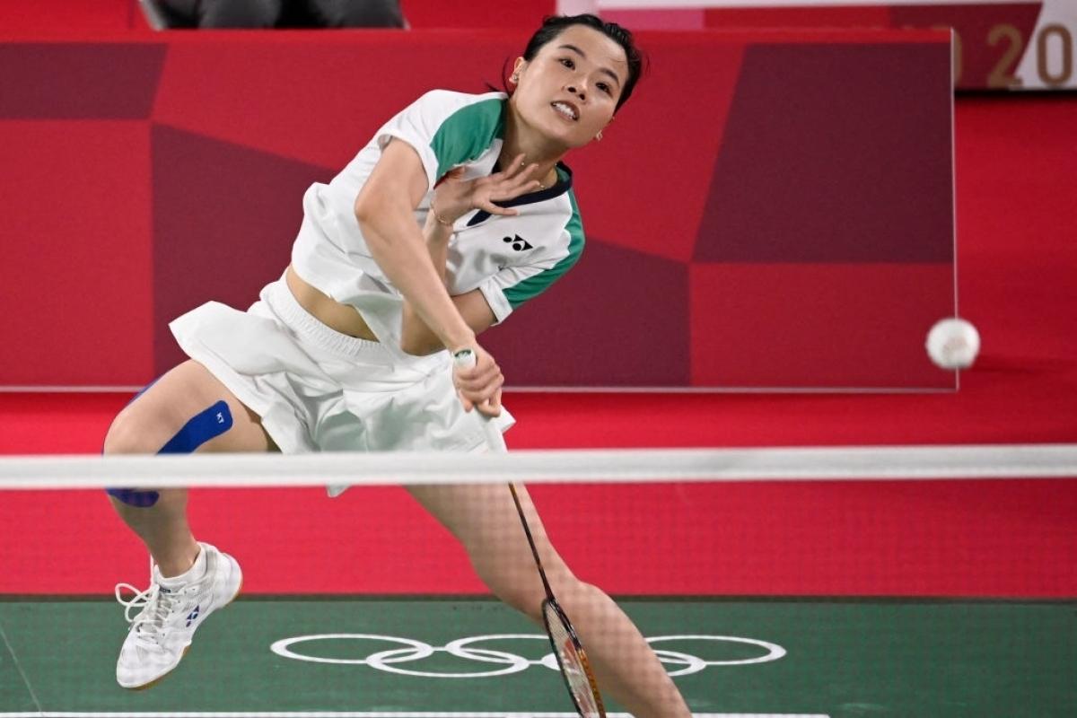 Thùy Linh đã chơi rất nỗ lực nhưng vẫn phải nhận thất bại trước tay vợt số 1 thế giới. (Ảnh: Getty).