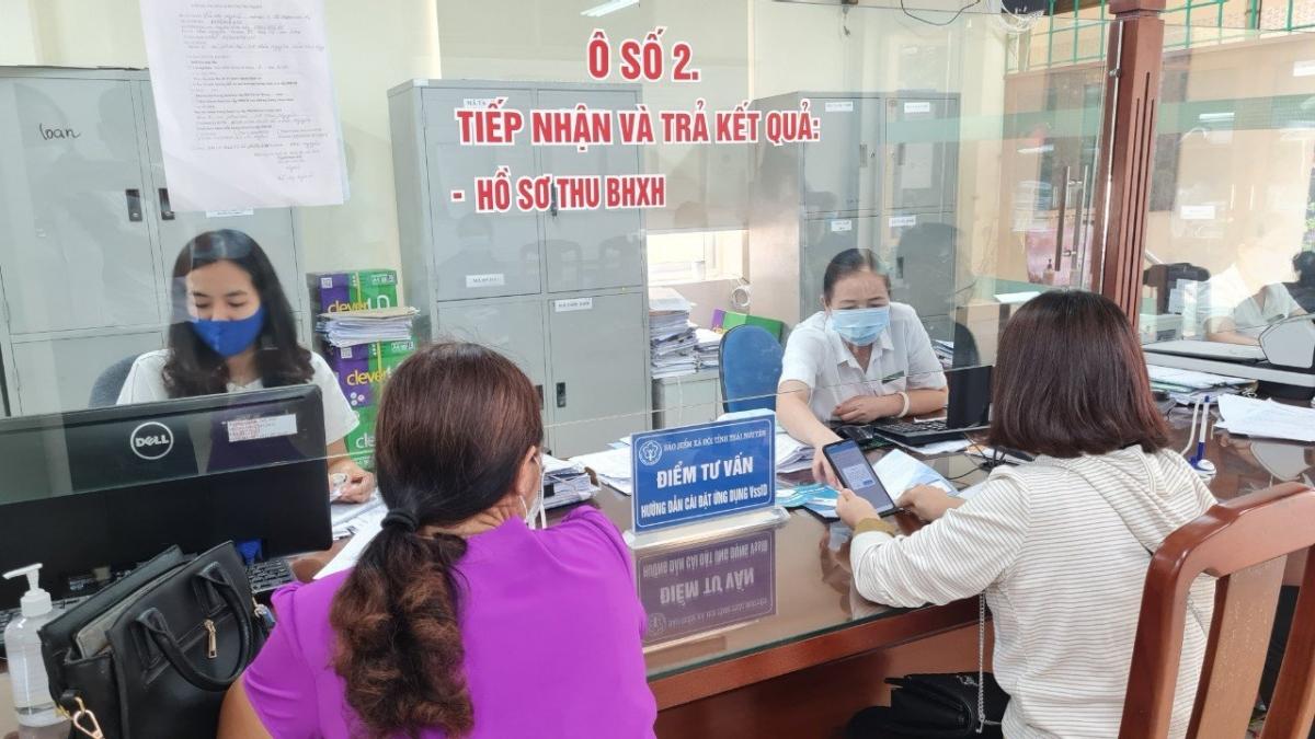 Kịp thời tiếp nhận, giải quyết hồ sơ hỗ trợ người lao động và người sử dụng lao động (Nguồn ảnh: BHXH Thái Nguyên)