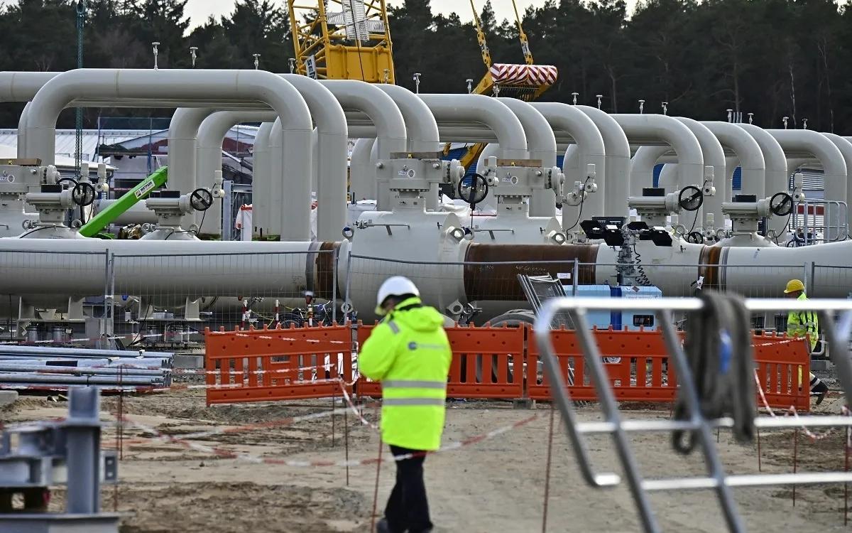 Công trường dự án đường ống dẫn khí Dòng chảy phương Bắc 2 ở vùng đông bắc nước Đức. Ảnh: AFP.
