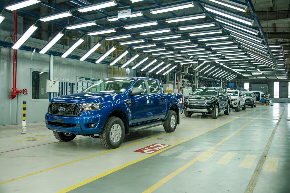 Những chiếc Ford Ranger xuất xưởng từ nhà máy Hải Dương.