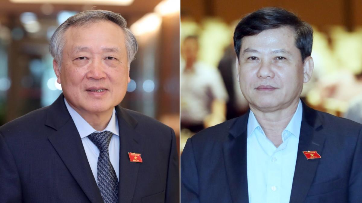 Ông Nguyễn Hòa Bình và ông Lê Minh Trí