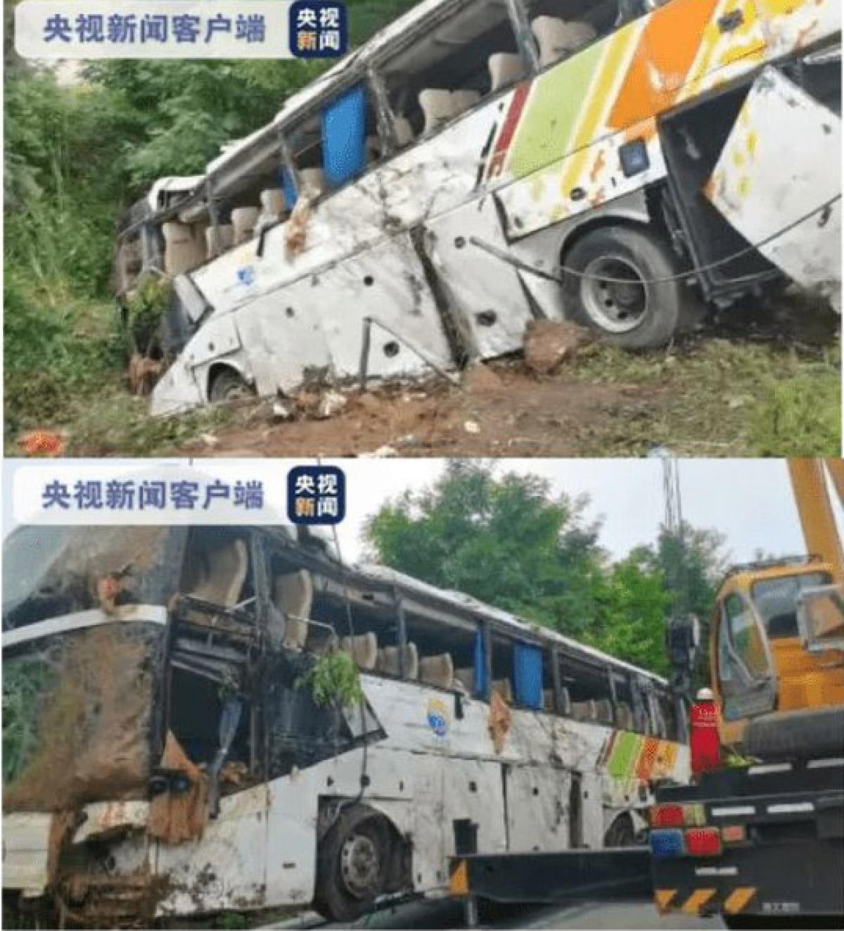 Hiện trường vụ tai nạn. Nguồn: CCTV