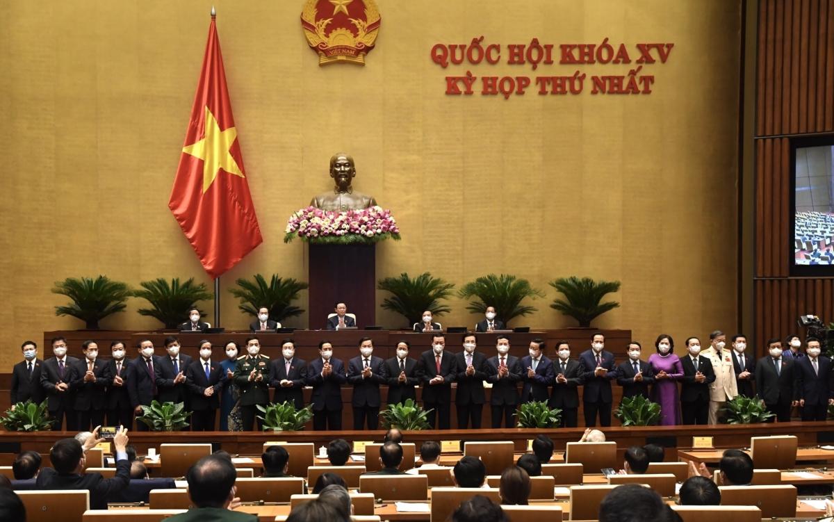 Các thành viên Chính phủ nhiệm kỳ khóa mới.