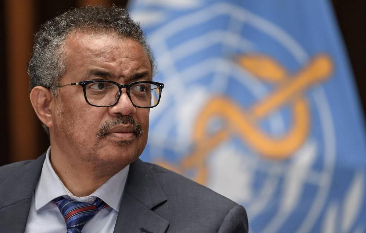 Tổng giám đốc Tổ chức Y tế Thế giới (WHO) Tedros Adhanom Ghebreyesus. Ảnh: EPA