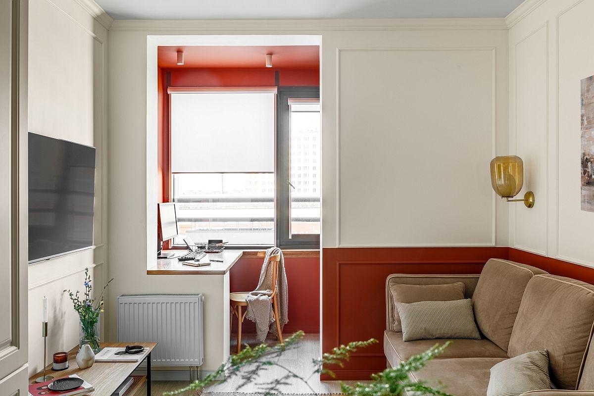 Tạo không gian làm việc tại nhà với một chút điểm nhấn màu sắc sẽ tạo nên một căn phòng đầy phong cách, cá tính.