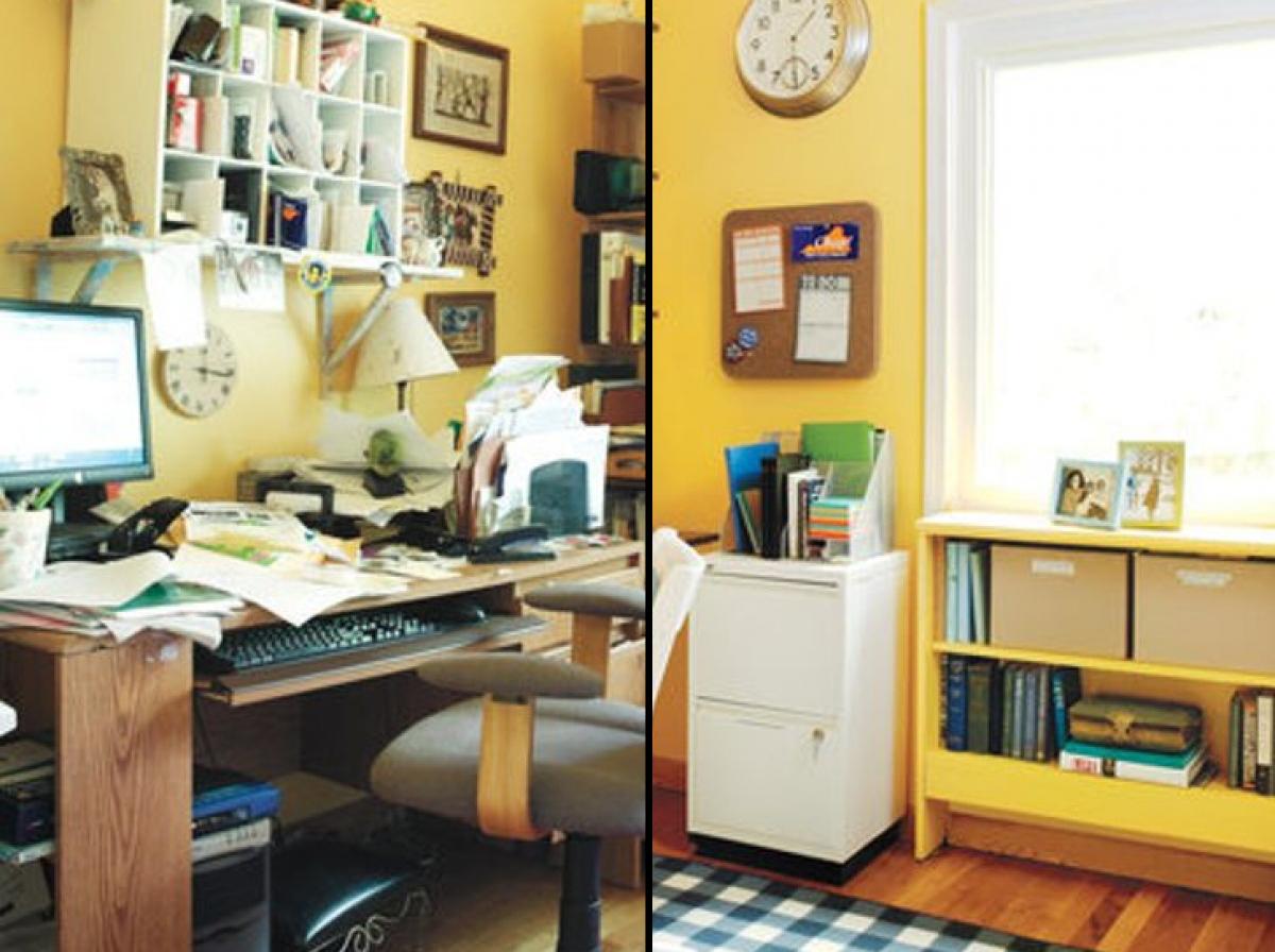 Sắp xếp lại tất cả mọi thứ nhỏ nhặt trong căn phòng gọn gàng, ngăn nắp.