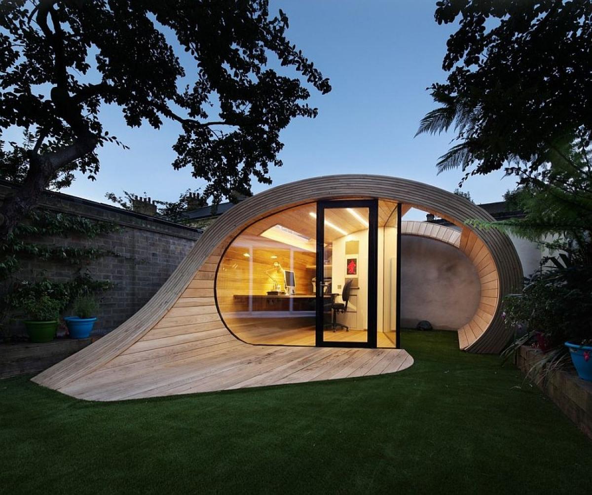 Một ý tưởng sáng tạo với một không gian làm việc yên tĩnh, độc đáo.