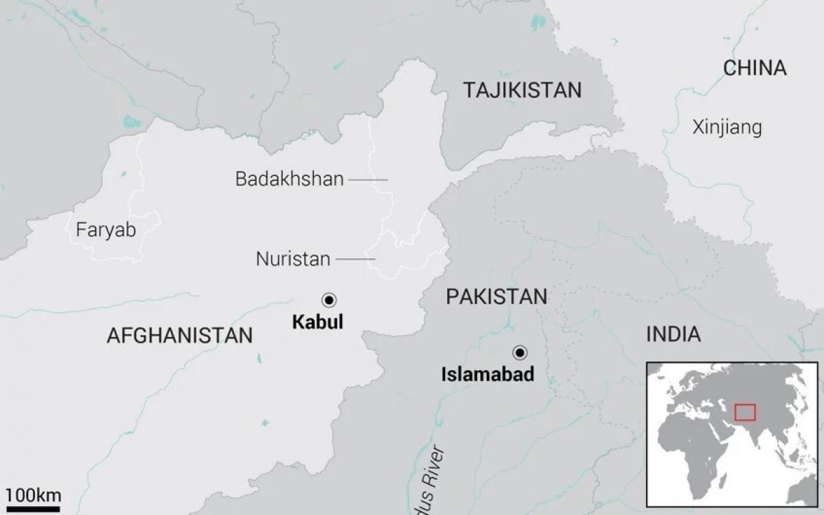 Bản đồ khu vực Afghanistan, Trung Quốc, Pakistan. Đồ họa: SCMP.