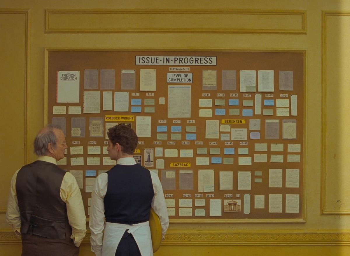 'The French Dispatch' nhận được nhiều sự chú ý của Viện Hàn lâm.