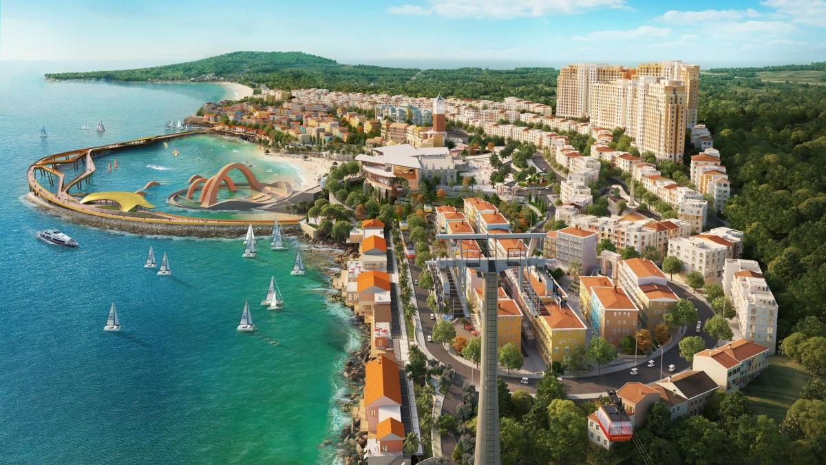 """Shophouse thuộc tổ hợp """"thị trấn Địa Trung Hải"""" ở Nam đảo sẽ nắm giữ tương lai của BĐS Phú Quốc."""