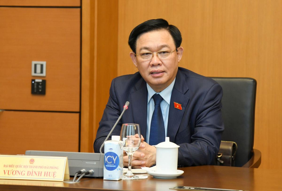 Chủ tịch Quốc hội phát biểu tại phiên thảo luận tổ chiều 24/7 (Ảnh: quochoi.vn)