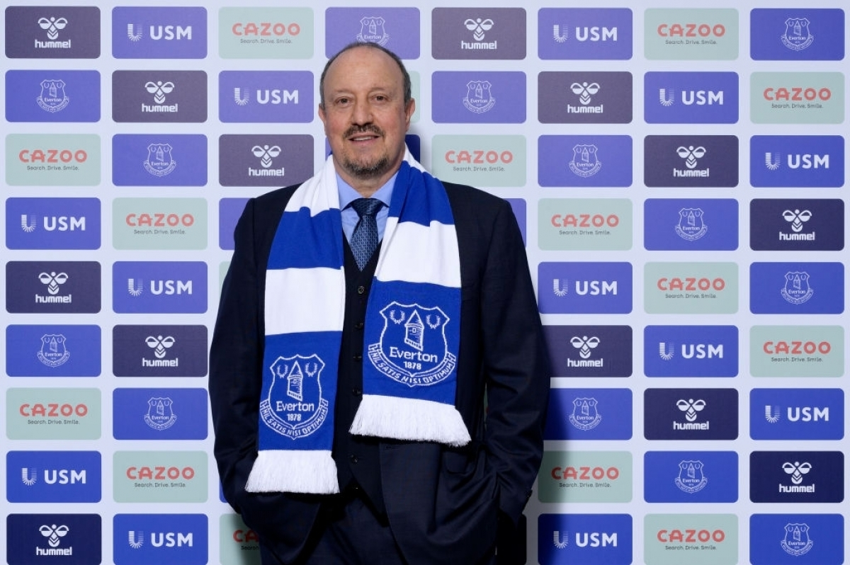 HLV Benitez dẫn dắt Everton (Ảnh: Getty).