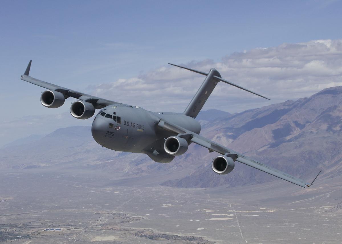 Một máy bay C-17 của Mỹ. Ảnh: Wikipedia