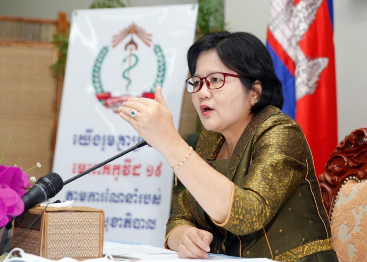 Quốc vụ khanh kiêm Phát ngôn viên bộ Y tế Campuchia bà Or Vandine