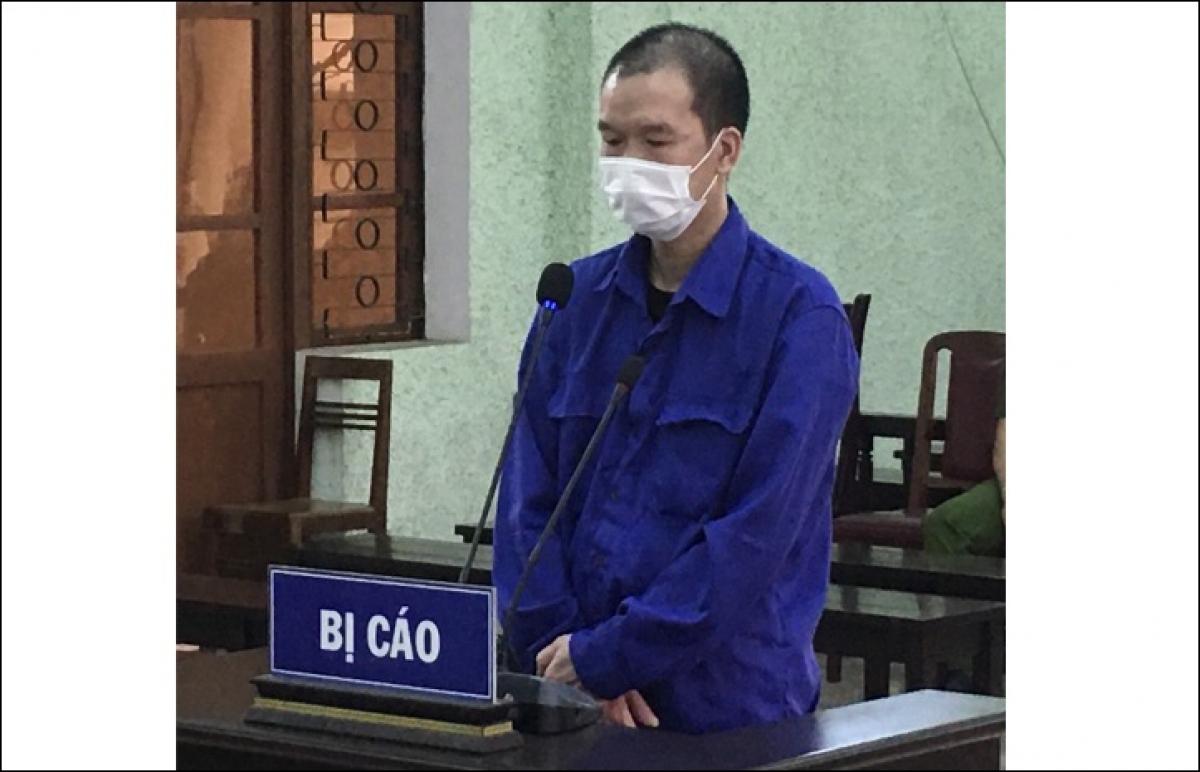 Bị cáo Hoàng Văn Hữu tại phiên tòa (Ảnh: Công an tỉnh Cao Bằng)