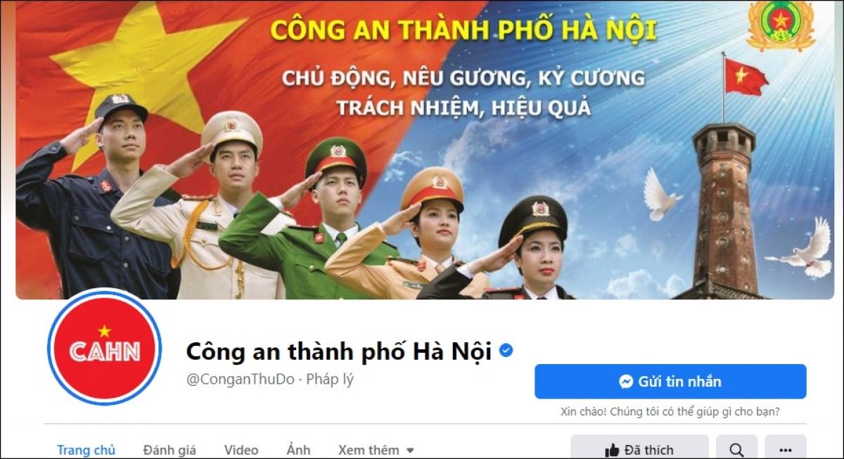 Fanpage Công an Thành phố Hà Nội trên Facebook là nơi người dân có thể tố giác tội phạm nhanh chóng, hiệu quả