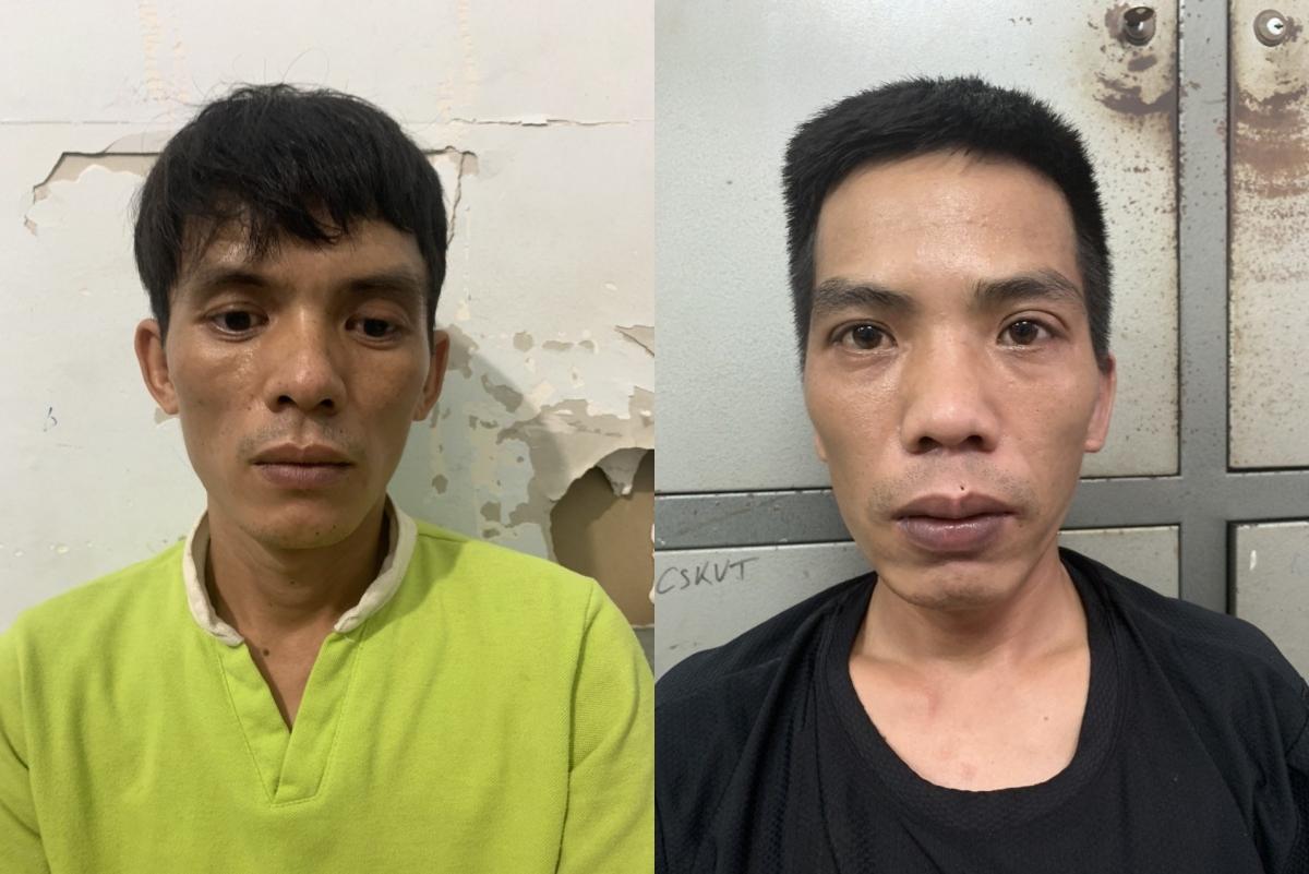 Hai đối tượng Lê Văn Cường (trái) và Nguyễn Văn Thìn