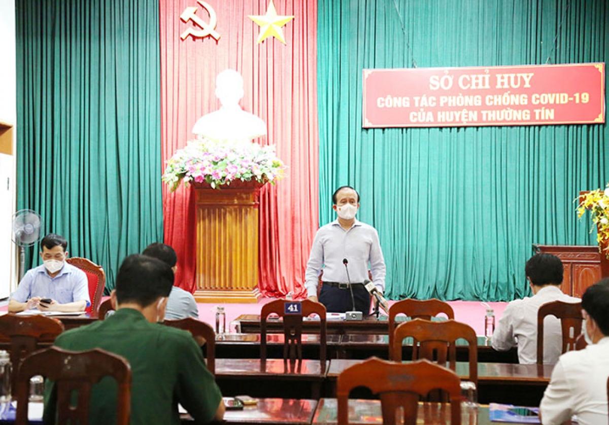 Chủ tịch HĐND TP Nguyễn Ngọc Tuấn phát biểu chỉ đạo tại buổi kiểm tra.