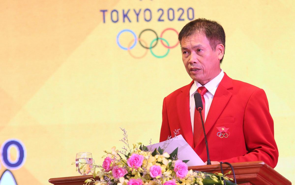 Ông Trần Đức Phấn - Phó Tổng cục trưởng phụ trách Tổng cục TDTT làm Trưởng đoàn tại Olympic Tokyo 2020.