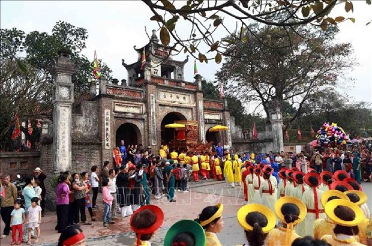 Co Loa Festival in Dong Anh District, Hanoi.It is usually held after Tet (Lunar New Year) holiday.
