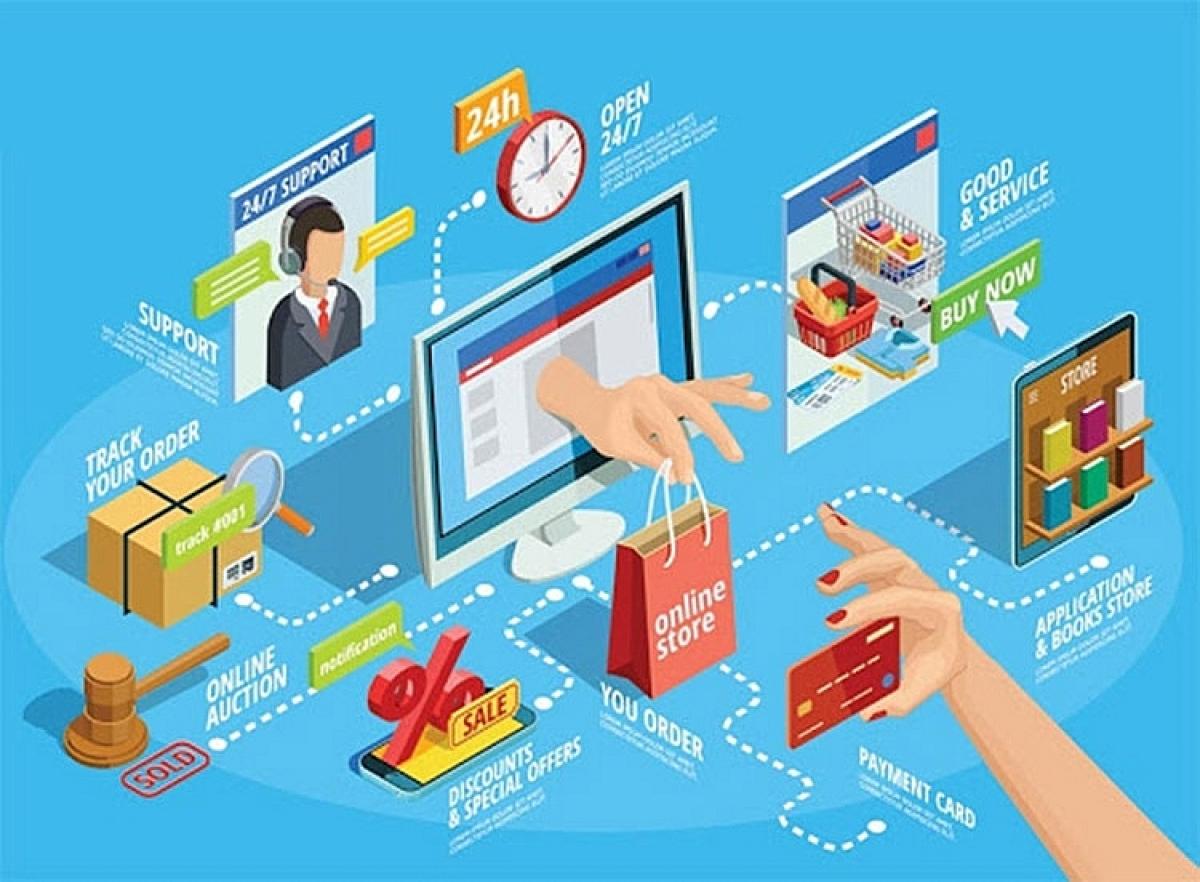 Thương mại điện tử là thương trường đa biên giới, thậm chí là vô biên (Ảnh minh họa: KT)