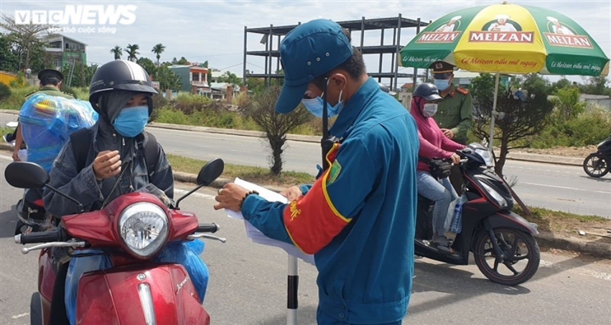 People entering Quang Nam province won't be allowed to return to Da Nang City. If necessary, then they are required to undergo an isolation period when they come back to the city.